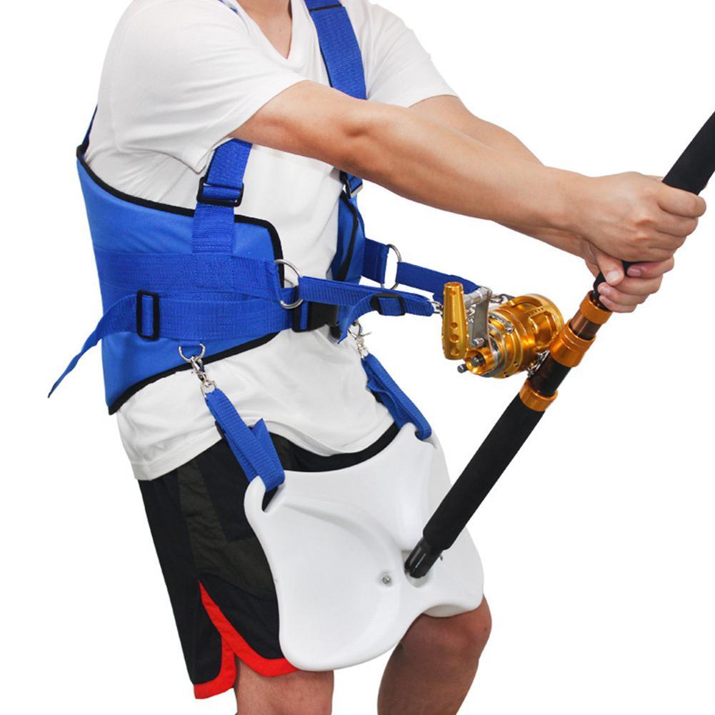Gilets de pêche professionnel tenez la ceinture de combat en mer + harnais d'épaule pour les accessoires de pêche en mer de gros poissons