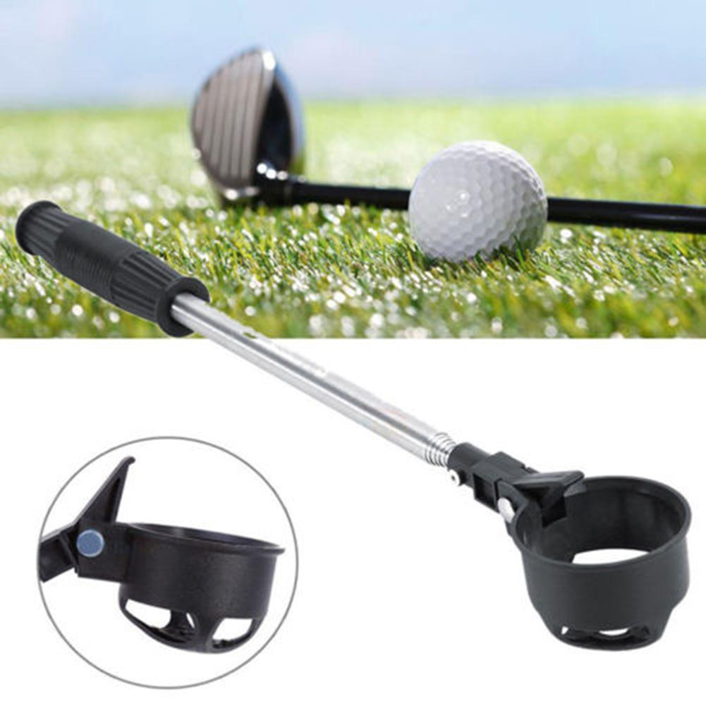 Portable Stainless Steel Shaft Telescopic Golf Ball Pick Up Retriever Scoop