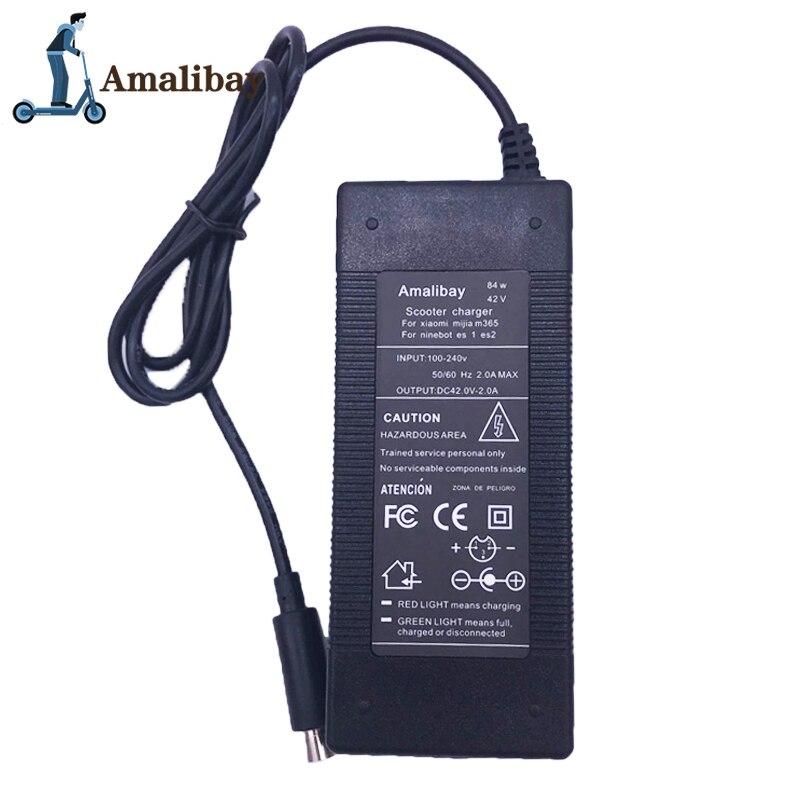 Зарядное устройство для электрического скутера 42 в 2 а для Xiaomi Mijia M365 для Ninebot Es1 Es2 ES4 Запчасти для электрического скутера зарядное устройство для скутера Детали и аксессуары для скутера      АлиЭкспресс