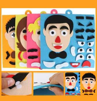 DIY Toys Emotion Change Puzzle 30CM*30CM Creative Facial Expression Kids Educational For Children Learning Funny Set