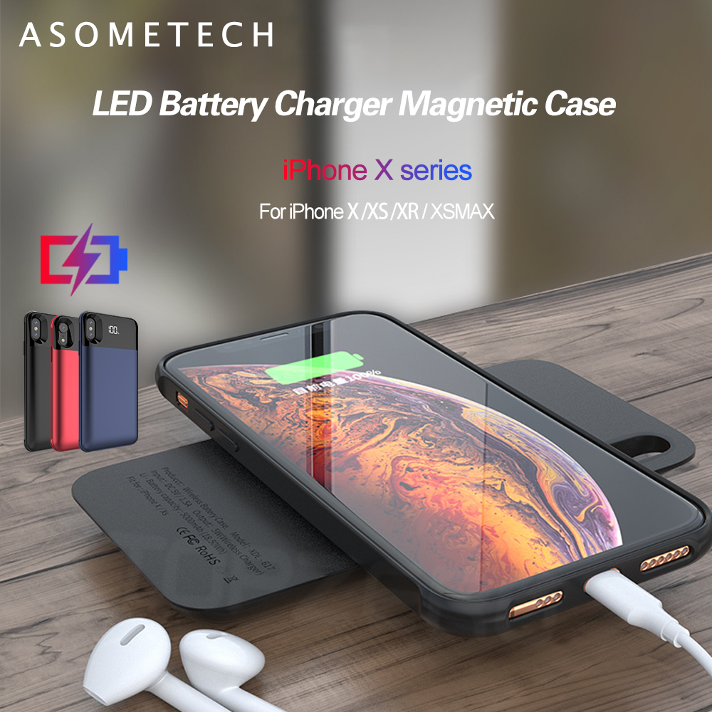 Battery Case For iPhone X XS XR XS MAX Charger Cover 5000mAh Charging Power Bank Case For iPhone 11 Pro Max Battery Back Case
