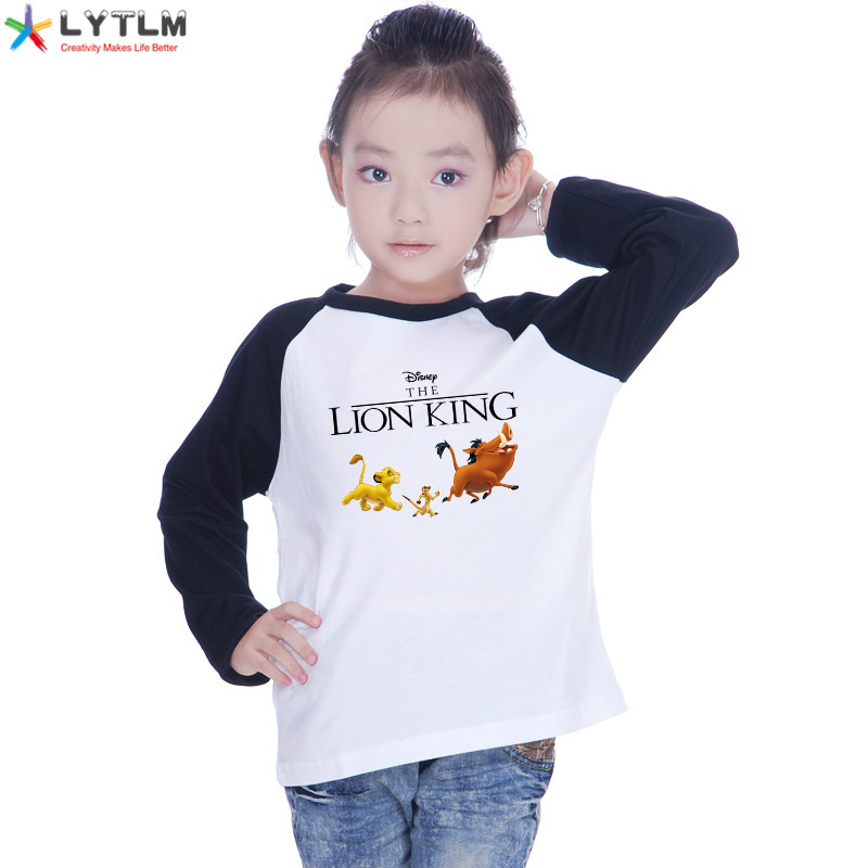 LYTLM Roi Lion Kids Tops for Girls Lion King Baby Clothes Toddler Girl Top Long Sleeve Polera <font><b>Manga</b></font> Larga Harajuku T <font><b>Shirt</b></font> Boys image