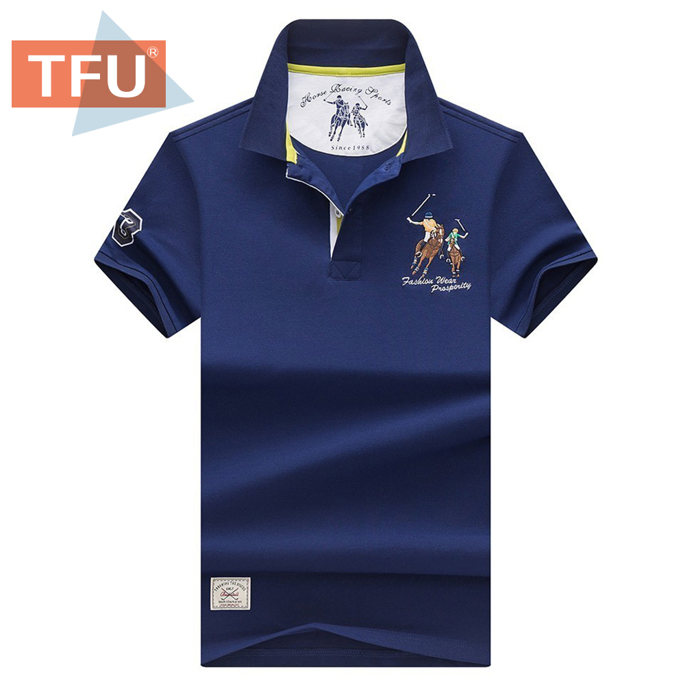 Men 2020 Summer New Cotton Classic Casual Embroidery Polo Shirts Men Business Short Sleeve Stand Collar Tops&Tees Polo Shirt Men