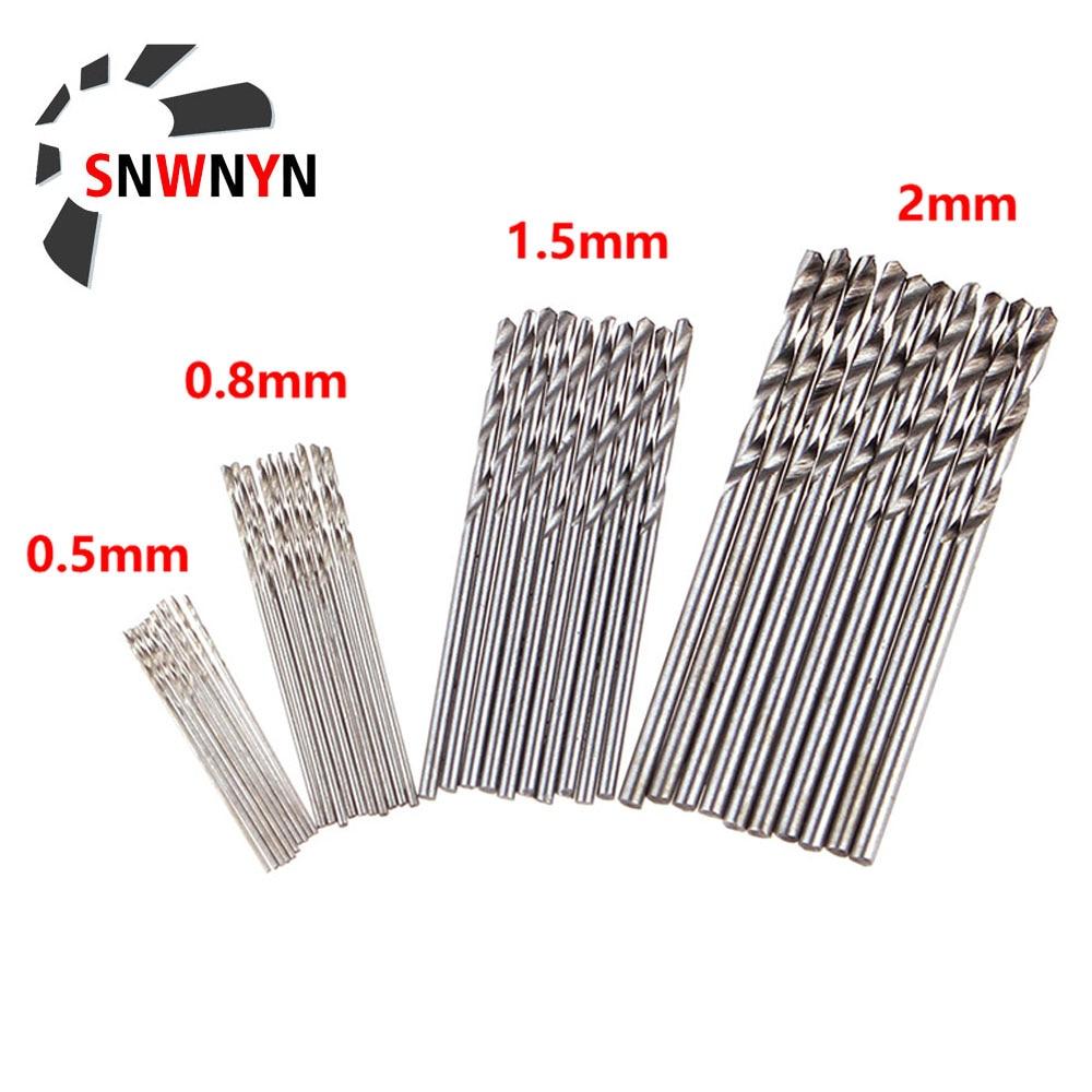 10Pcs/Set 0.5mm 0.8mm 1.5mm 2.0mm HSS High Speed Steel Mini Drill Twist Drill Bits Set For Woodworking Plastic And Aluminum