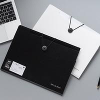 A4 Folder Binder Office Organizers 5/8/12 Pockets PP Document Organizer File Folder Fashinable White Black Color Buckle Folder