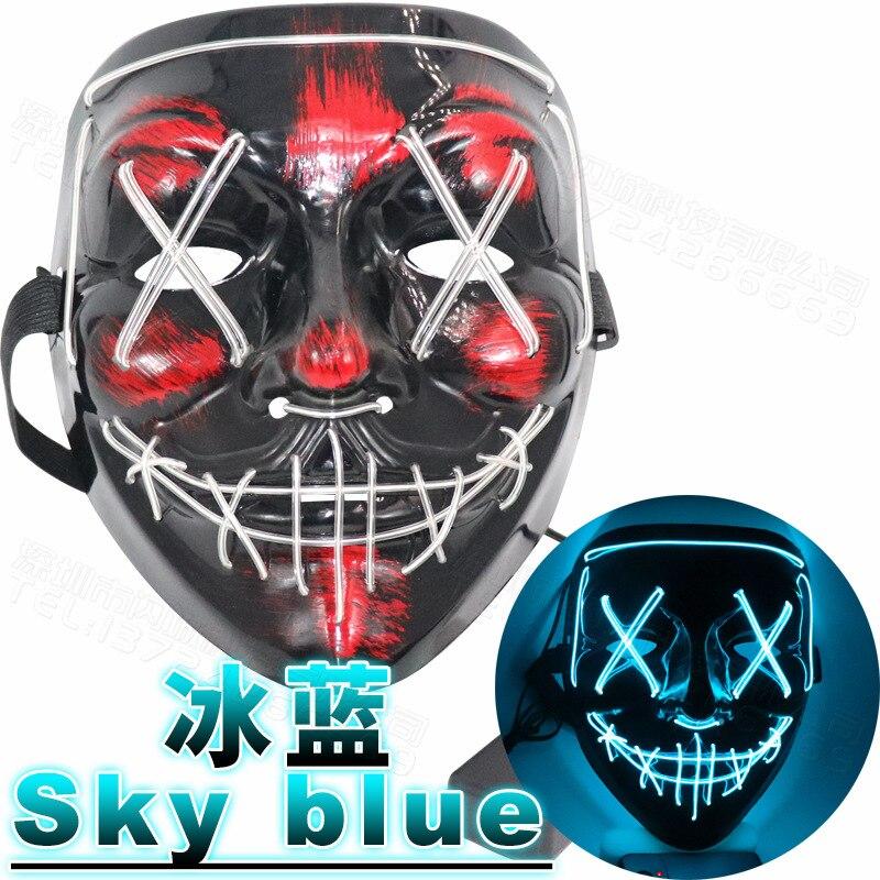 2019 Hot Fashion Flashing LED Mask Fluorescent Party Festival Halloween Horror