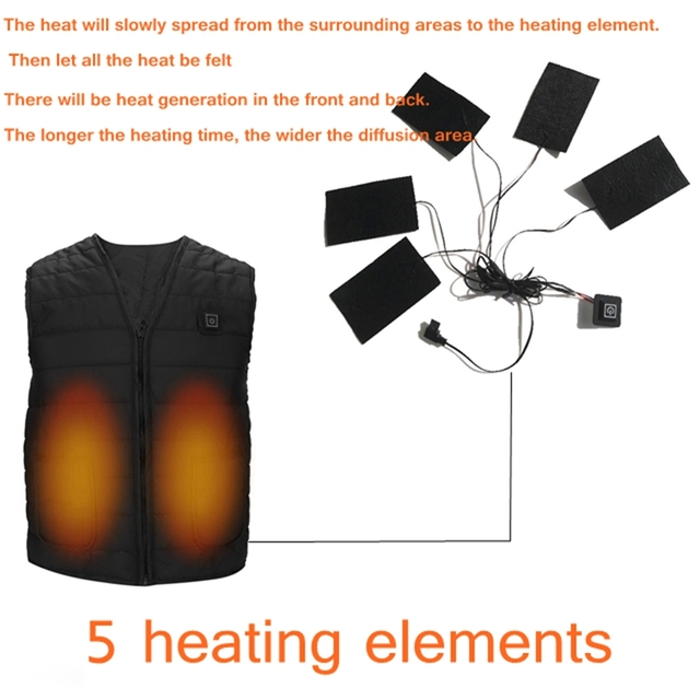 Smart Heating Cotton Vest 5