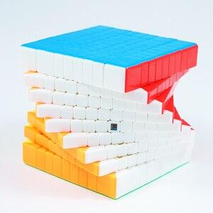 Image 3 - Originele Moyu MF9 9X9X9 Cube Magic Mofangjiaoshi Cube Meilong 9 Lagen 9X9 Speed Puzzel blokjes Vorm Twist Educatief Speelgoed