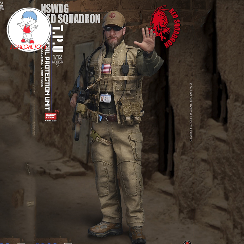 SoldierStory SSM-001 1/12 Scale Male Soldier Model NSWDG RED SQUADRON T.P.U Action Figure Military Toys Gift For Collections