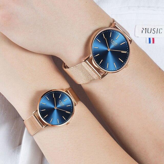Фото часы наручные lige женские кварцевые модные брендовые роскошные