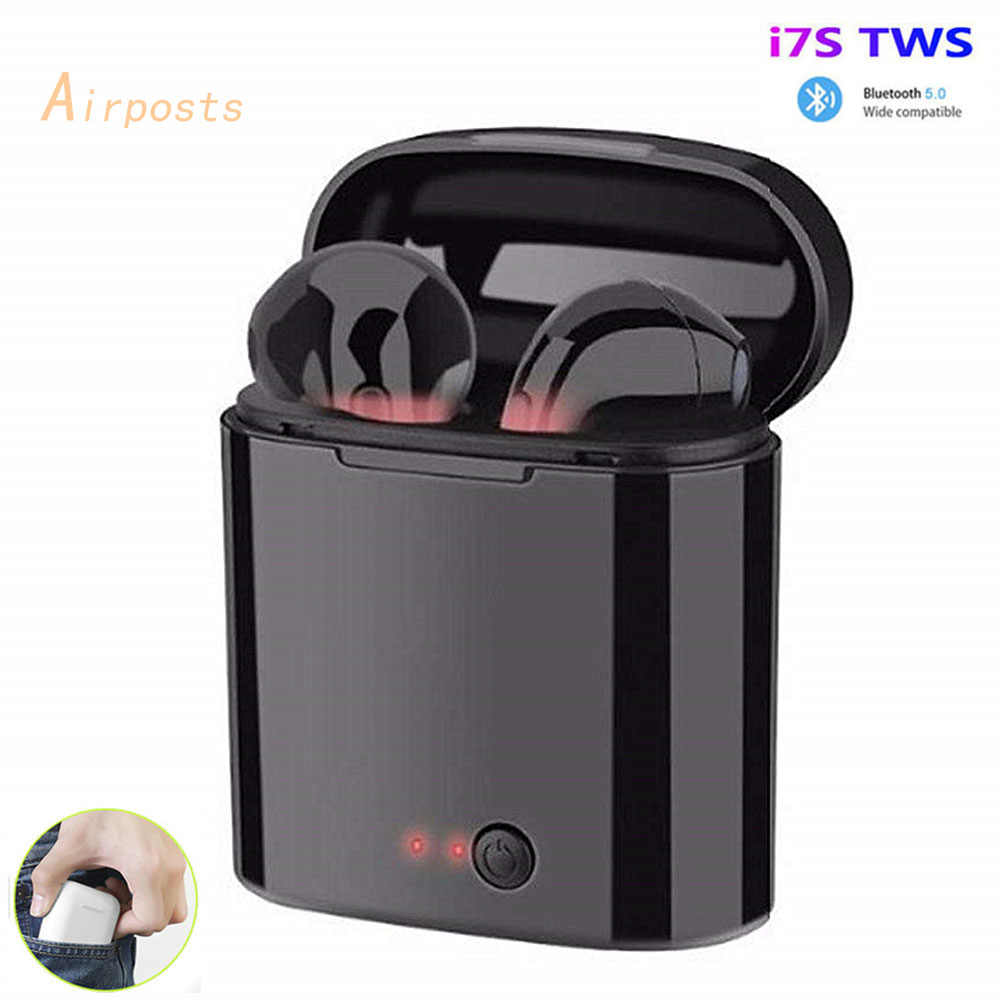 I7s Tws Nirkabel Earpiece Bluetooth 5.0 Earphone Sport Earbud Headset dengan MIC untuk Smart Phone Xiaomi Iphone Samsung Huawei