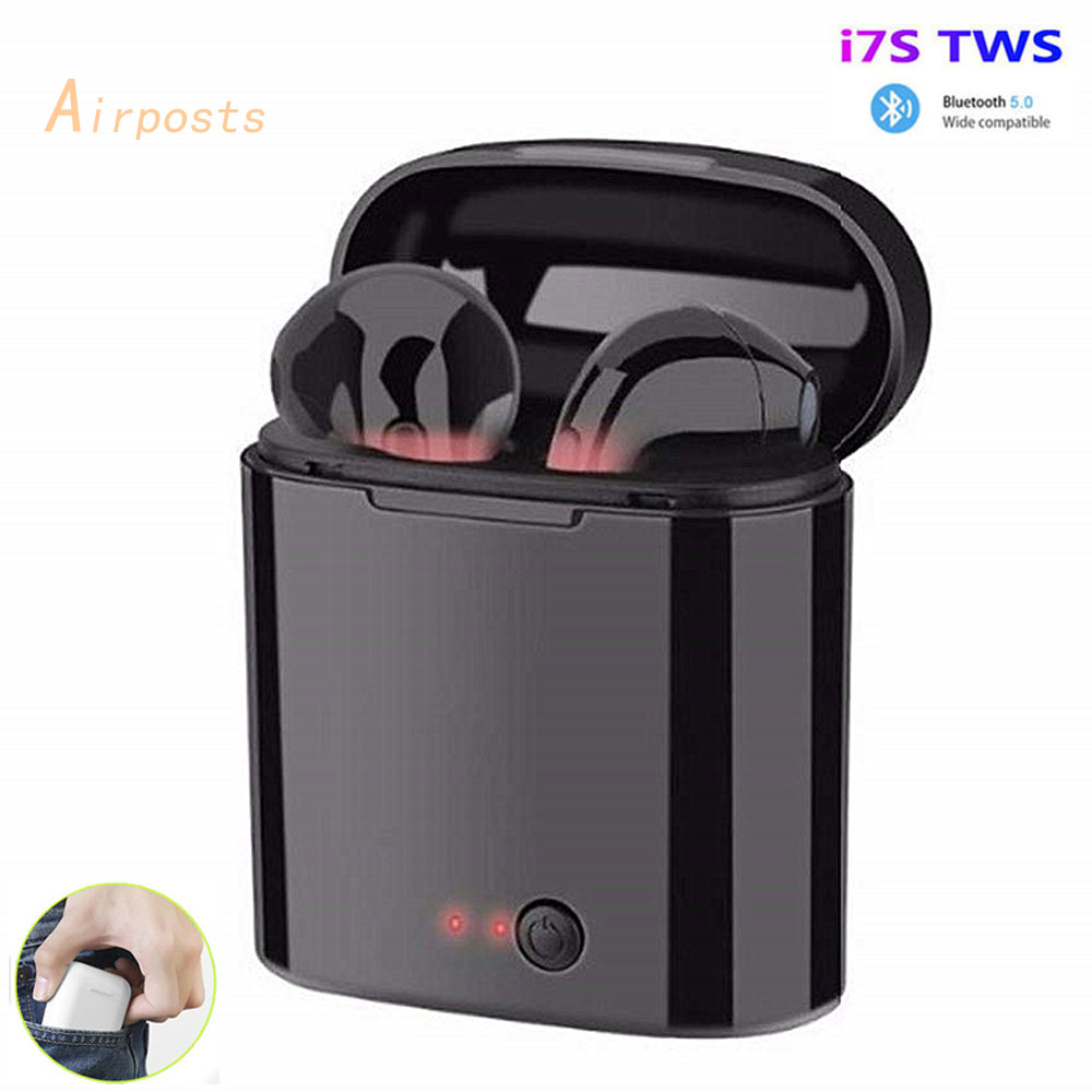 I7s TWS Wireless Earpiece  Bluetooth 5.0 Earphones Sport Earbuds Headset With Mic For Smart Phone  Xiaomi Iphone Samsung Huawei