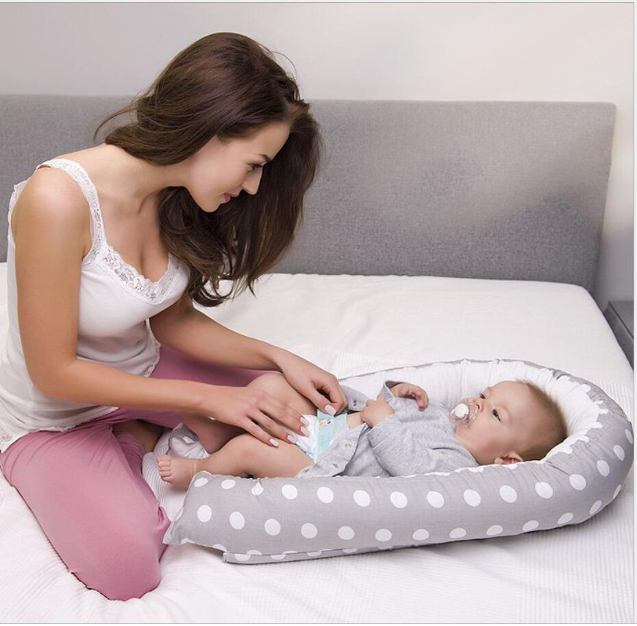 Baby Nest Bed Portable Crib Travel Bed Infant Toddler Cotton Cradle For Newborn Baby Bassinet Bumper Portable Removable Bed