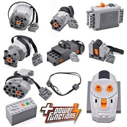 Technical Power Function Servo legoinglys Motor Polarity Switch IR Remote Control Receiver Battery Box technic creator technicia
