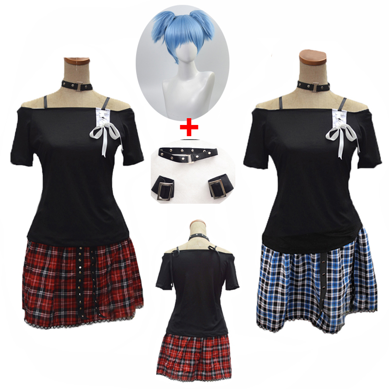 2019 Classroom Murder Shiota Nagisa Punk Girl Uniforms Halloween Party Cosplay Costume Complete Set With Accessories And Wig