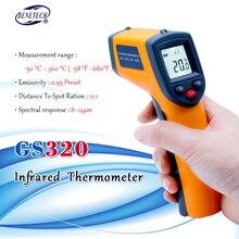 ללא מגע דיגיטלי לייזר אינפרא אדום מדחום 32 42.5C Themperature Pyrometer IR לייזר פוינט אקדח
