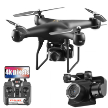 S32T 4K Дрон с камерой вращающийся HD Квадрокоптер с 1080P Wifi FPV Дрон Профессиональный Дрон полёт 20 минут RC вертолет