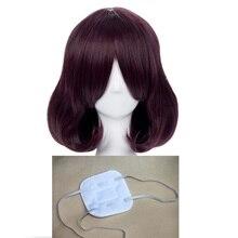 Cosplay Wig Eyepatch Kakegurui Ikishima Midari Synthetic Compulsive Gambler Heat-Resistant