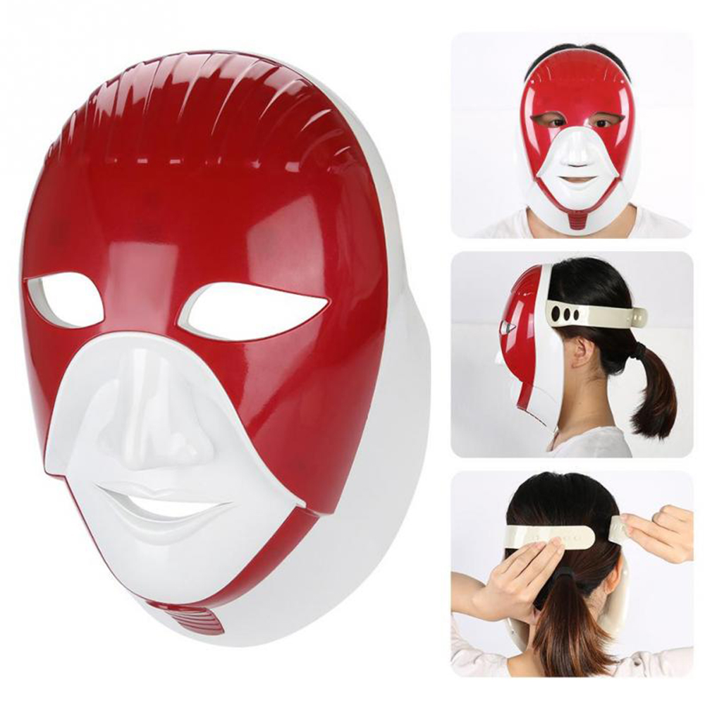 Facial Led Mask 7 Colors Light Beauty Device Skin Rejuvenation Machine For Skin Care Tool Red Photon Therapy