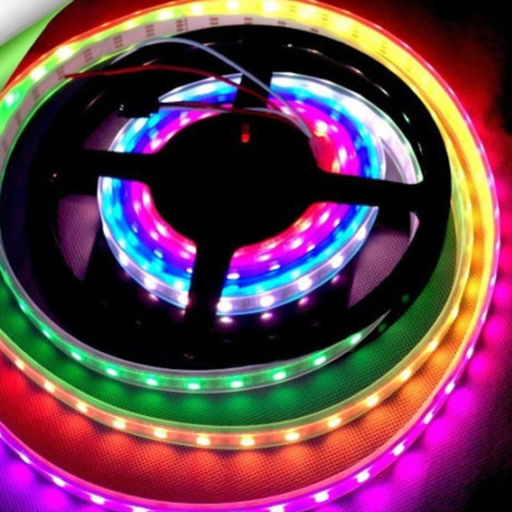 Multicolor WS2811 High Brightness 5050 SMD LED Light Strip Waterproof Individually Addressable DC 12V Wide Viewing Angle