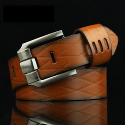 New Hasemeka 2018 QUALITY Cow Genuine Luxury Leather Men Belts For Men Strap Male Pin Buckle BIG SIZE 100-130cm 3.8 Width HM201