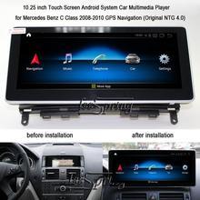 10.25 inch Android 9.0 GPS Navigation for Mercedes Benz C Class 2008-2010 MB W204 C200 C260 C180 Car Multimedia Player(NO DVD) цена в Москве и Питере