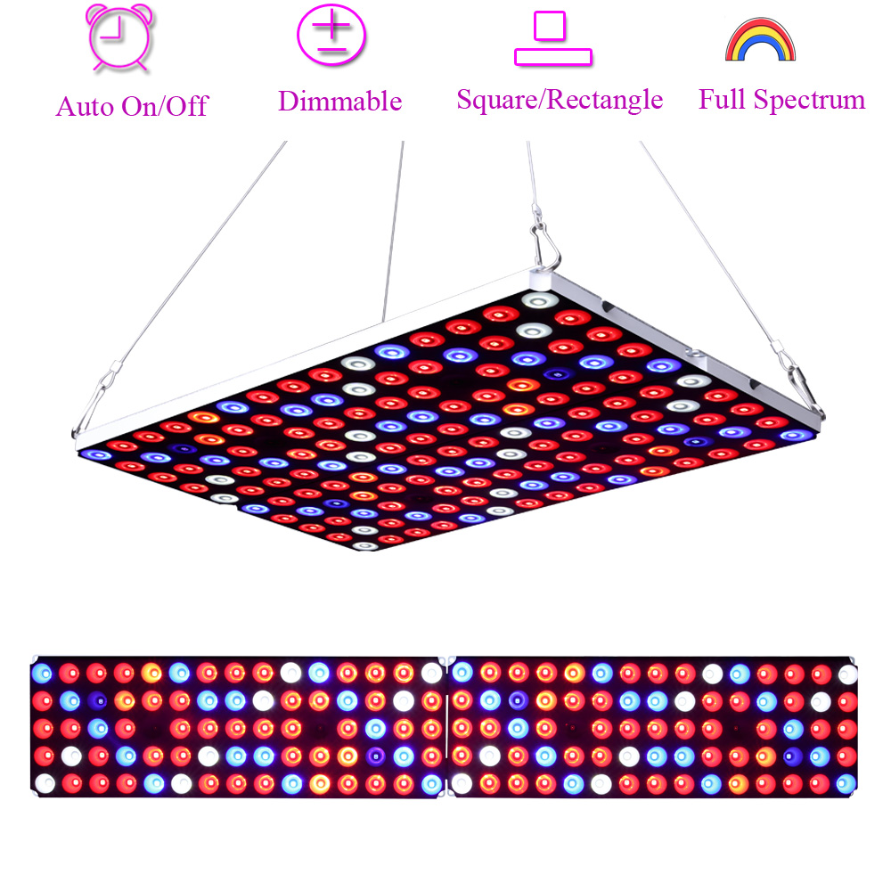 JCBritw LED Grow Light Dimmable Auto On/Off Timer Full Spectrum With UV IR Plant Growing Lamp For Indoor Plants 60W Plant Light