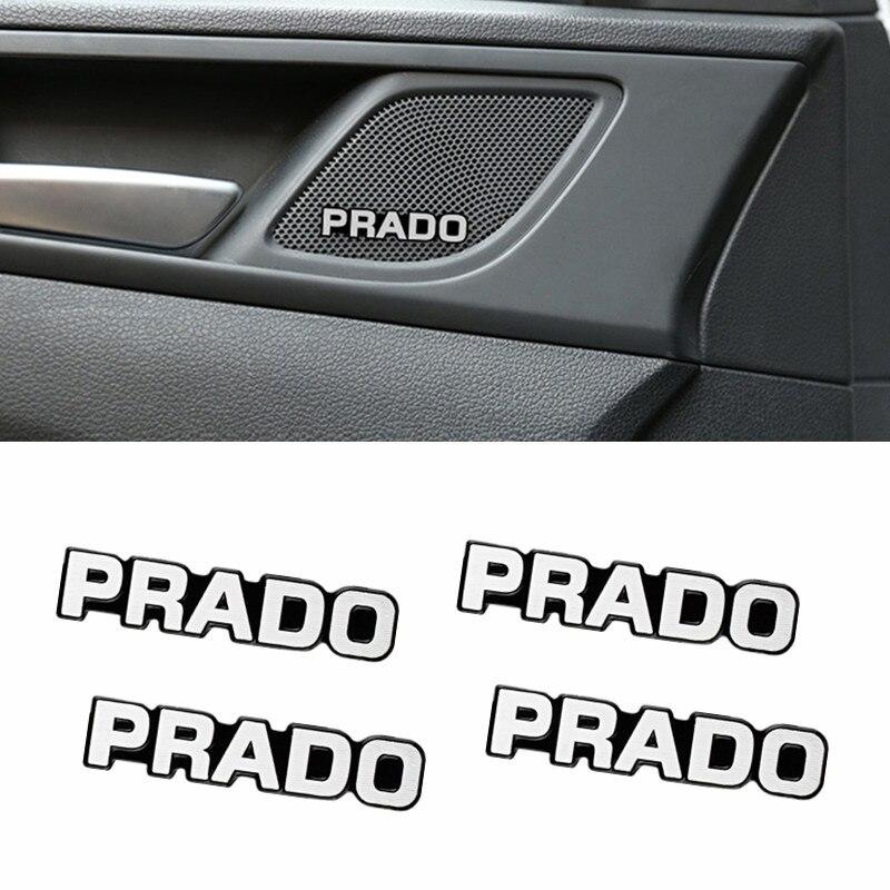 4 шт. 3D алюминиевый динамик, стерео динамик, значок, эмблема, Наклейка для Toyota prado 120 fj150 land cruiser 80, Автомобильная крышка, CarStlyling