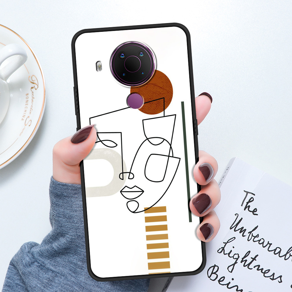 Drawings Abstract Faces Luxury Silicone Cover For Nokia 2.2 2.3 3.2 4.2 7.2 1.3 5.3 8.3 5G 2.4 3.4 C3 1.4 5.4