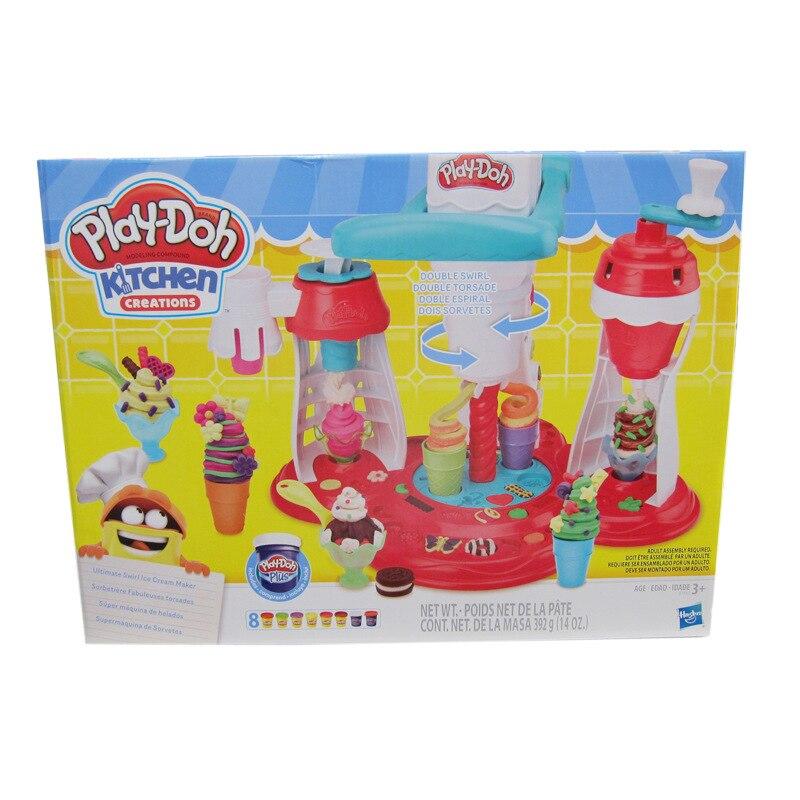 Hasbro Play Doh Creative Kitchen Series Super Cyclone Ice Cream Set Children's Plasticine Toy Clay Tableware Set