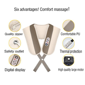 Image 4 - back and neck massage electric body massager infrared heated kneading office and home electric neck roller massager relaxation