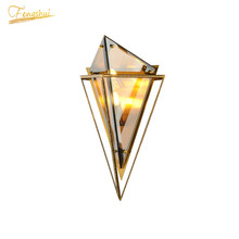 Modern Glass Golden Luster Wall Lamp Lighting Nordic LED Wall Lights Restaurant Cafe House Loft Bedroom Home Wall Lamps Fixtures