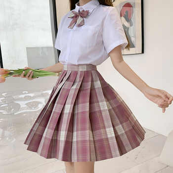 Japanese School Uniforms Skirts Girl\'s Dresses JK Suits Plaid Skirt Bowknot Shirt Female Sailor Costume Dress Clothes for Women - DISCOUNT ITEM  30 OFF Novelty & Special Use