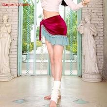 Scarf Belly-Dance Belt Performance-Clothing Profession Velvet Competition Hip-Sacrf Female