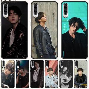 Korean singer boy star Jungkook Black TPU Phone Case Cover For Samsung A10 20 30 40 50 70 10S 20S 2 Core C8 A30S A50S A7 8 9