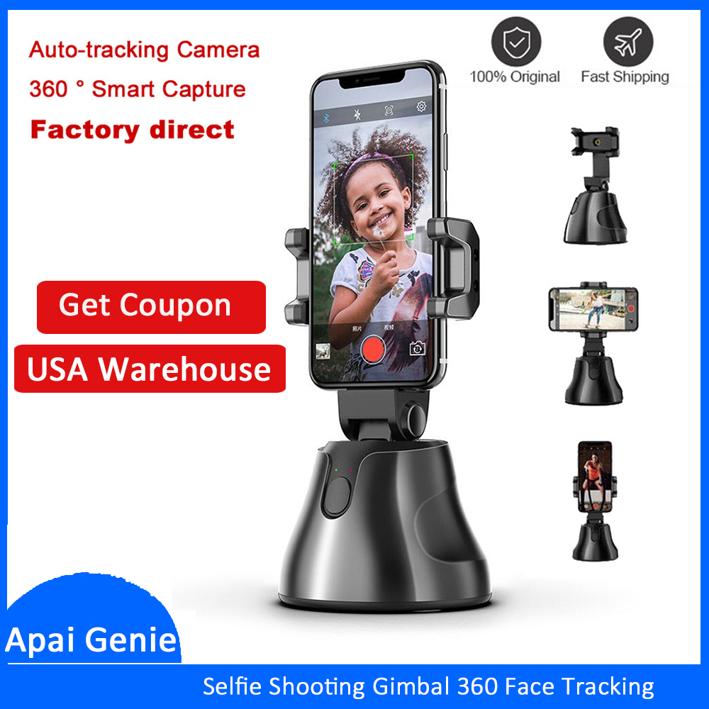 Portable All in one Auto Smart Shooting Selfie Stick 360 Rotation Auto Face Tracking Object Tracking
