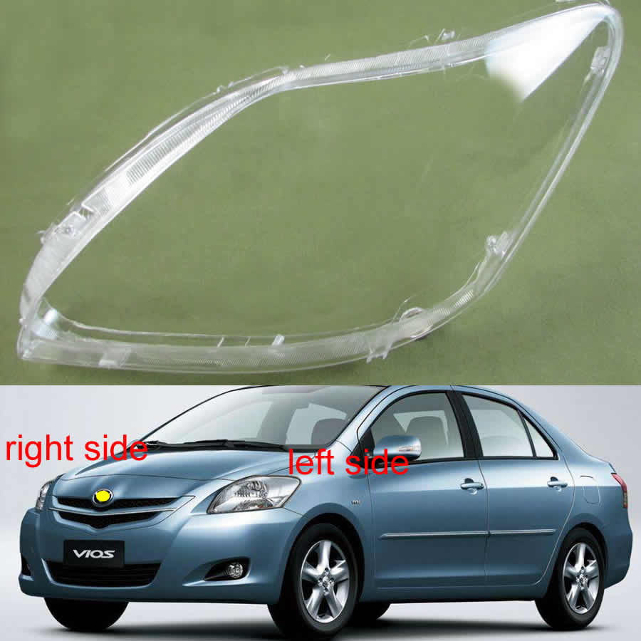 For Toyota Vios 2008 2009 2010 2011 2012 2013 Front Headlamps Glass Headlights Shell Cover Transparent Lampshades Lamp Lens