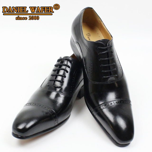 GENUINE LEATHER OXFORD DRESS SHOES  6