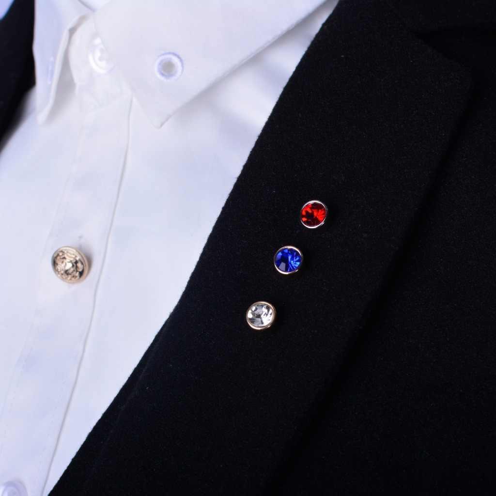 I-Remiel Coreano degli uomini di Collare Spilla Spille Rhinestone di Cristallo Spilli e Spille Risvolto Tempestato di Spille Fibbia Colletto Della Camicia accessori