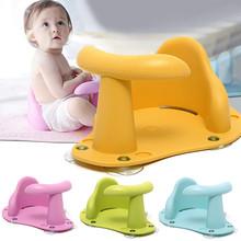 Noworodek kąpiel Pad mata krzesło wanna bezpieczeństwo bezpieczeństwo niemowlę wanna antypoślizgowa opieka nad dzieckiem siedzisko do kąpieli mycie zabawek dla dzieci tanie tanio Z tworzywa sztucznego bath chair Other Unisex 3 lat cartoon bath seat Green Pink Blue Yellow 37 5cm x 30 5cm x 15cm