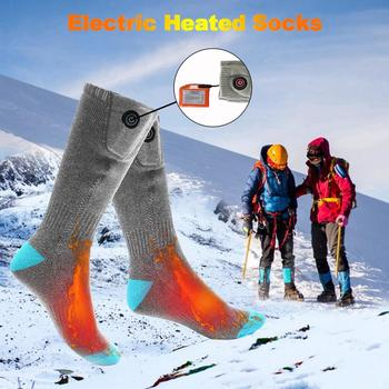 Winter Heated Socks Warm Keeping Water Washable Heating Socks for outdoor sport camping hiking Motorcycle Bike Riding