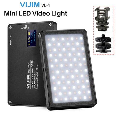 Iluminação na Câmera Luz de Vídeo Vijim Mini Magnético Pode Ser Escurecido Fotografia 96 Leds Lâmpada w Sapato Frio Alta Cri96 Vl-1 Led