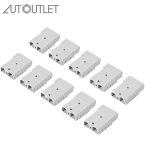 AUTOUTLET 10PCS For Anderson Style Plug Connectors 50A 600V 6-12AWG AC / DC Power Tool For Anderson Style Plug Connector