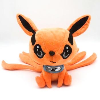 цена на Japan Anime Naruto Uzumaki Kurama Kyuubi Nine-Tail Fox Animal Doll Soft Plush Tailed Beast Toy for Children 25cm