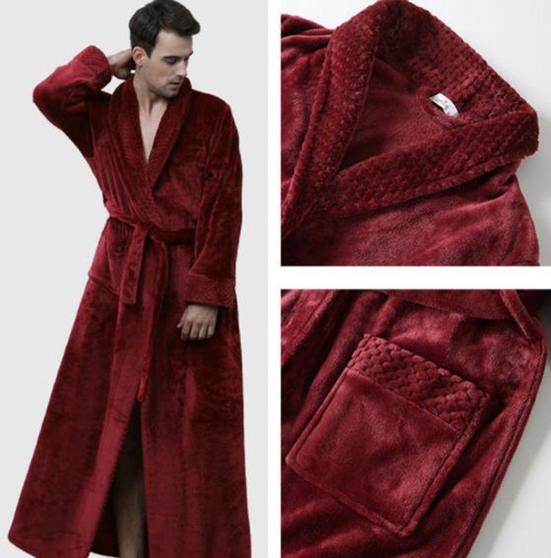 New Men's Nightgown Winter Bathrobe Bathrobe Comfortable Home Service Couple Thick Fashion Pajamas Badjas Heren 2019