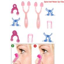 3PCS/Set 3 Sizes Beauty Nose Up Lifting Bridge Shaper Massage Tool No Pain Nose