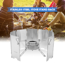 Outdoor Camping Stove with Alcohol Stove Stand Foldable Camping Alcohol Stove Rack Portable Stainless Steel Burner Support stainless steel 304 burner beaker tripod stand alcohol lamp stand school educational chemistry equipment