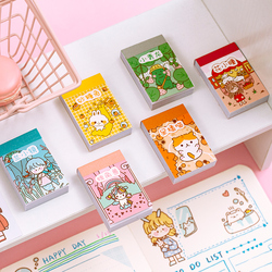 VanYi 6 Designs 50Pcs/lot Small Meatball Deco Washi Diary Stationery Kawaii Stickers Scrapbooking Planner Bullet Journal Doodlin