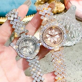 Luxury Diamond Quartz Women Watches 2020 Simple Wristwatches Ladies Waterproof Wrist Clock For Woman Elegant Female Watch Women