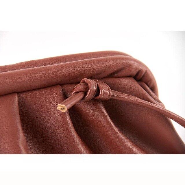 Bag For Women Cloud bag Soft Leather Madame Bag Single Shoulder Slant Dumpling Bag Handbag Day Clutches bags Messenger Bag 5